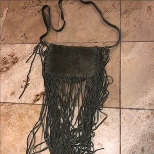 Steve Madden Suede Fringe Crossbody Bag